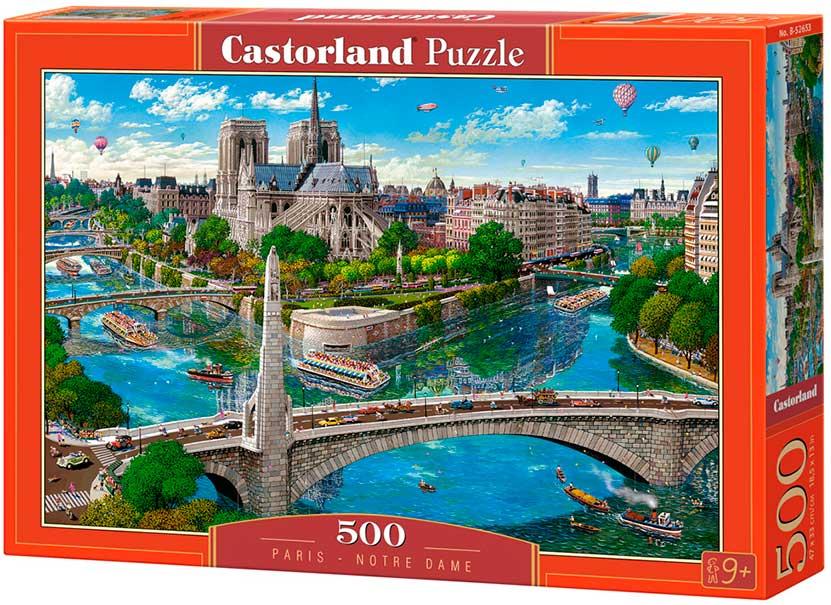 Puzzle Castorland Paris, Notre Dame de 500 Piezas