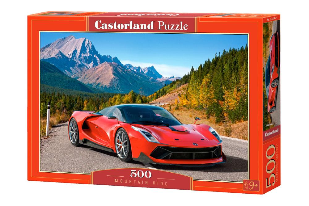Puzzle Castorland Coche Deportivo en la Montaña de 500 Piezas
