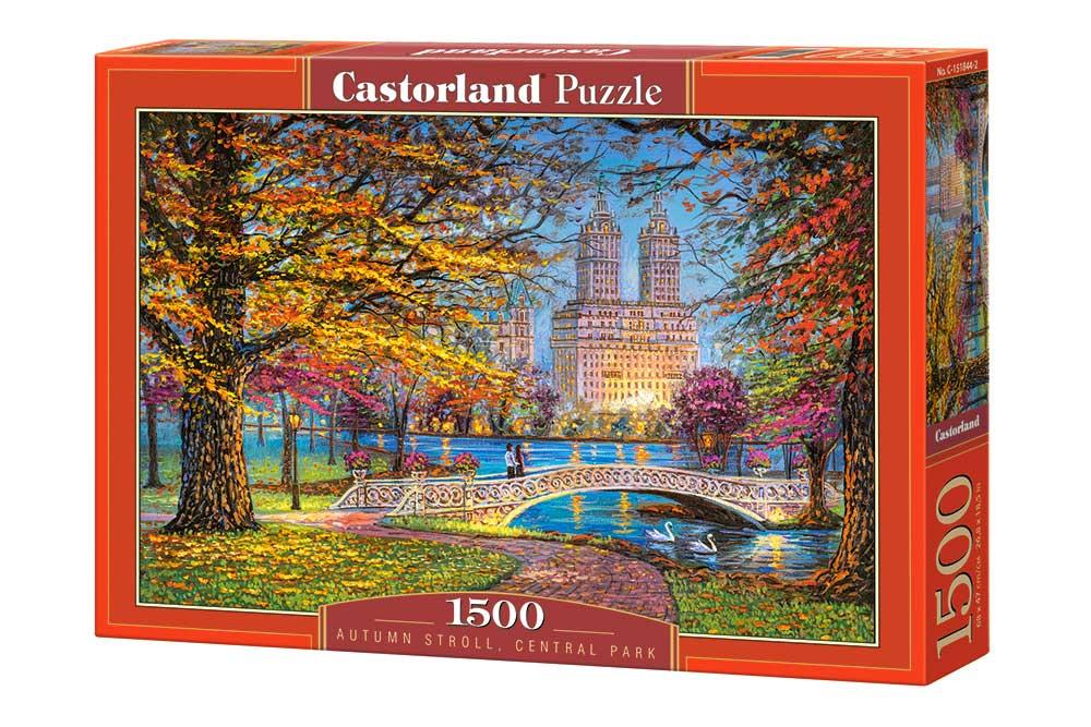 Puzzle Castorland Paseo Otoñal, Central Park de 1500 Piezas