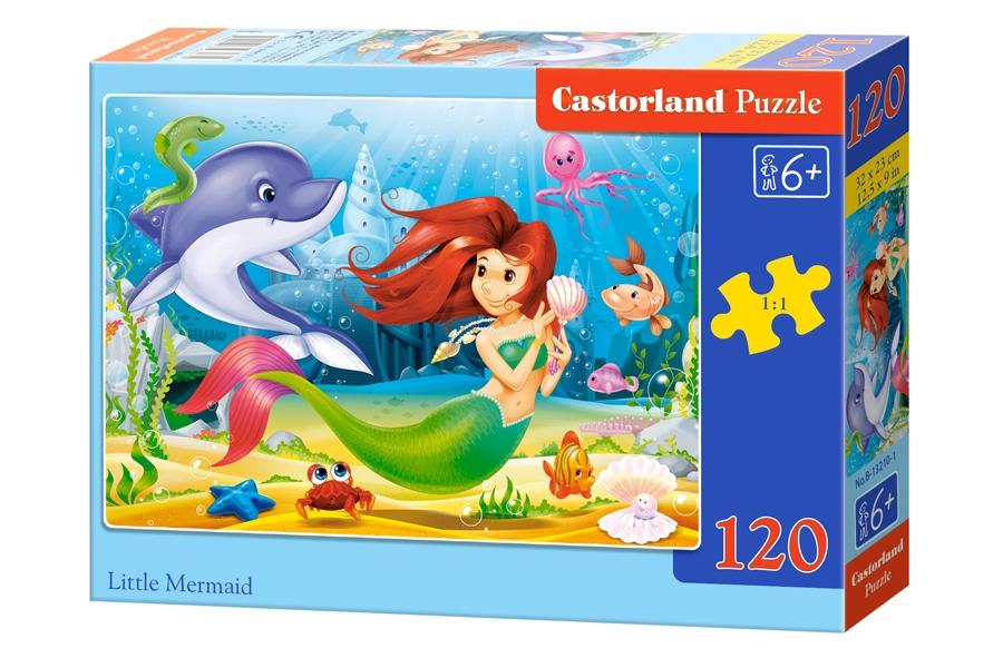 Puzzle Castorland Pequeña Sirenita 120 Piezas