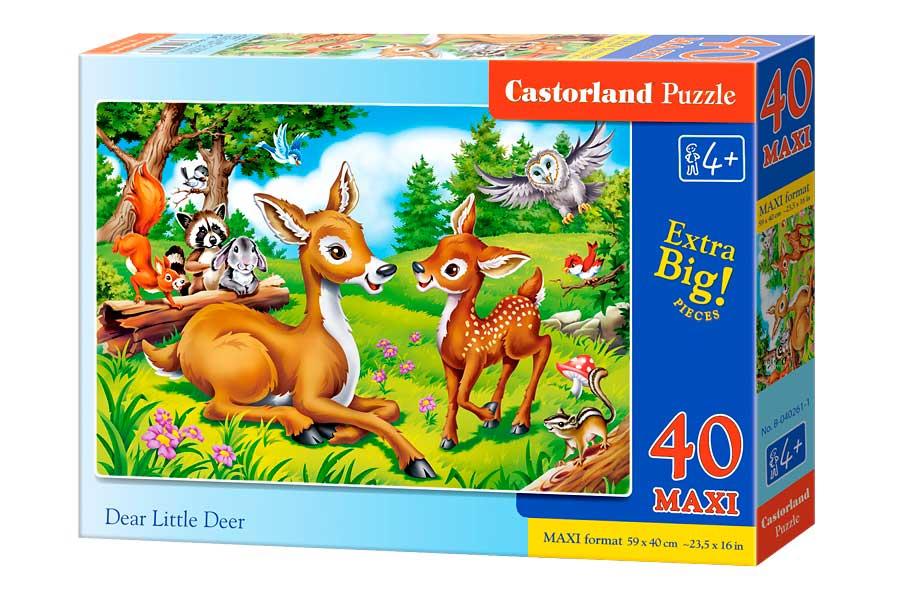 Puzzle Castorland Pequeño Ciervo Bambi de 40 Piezas