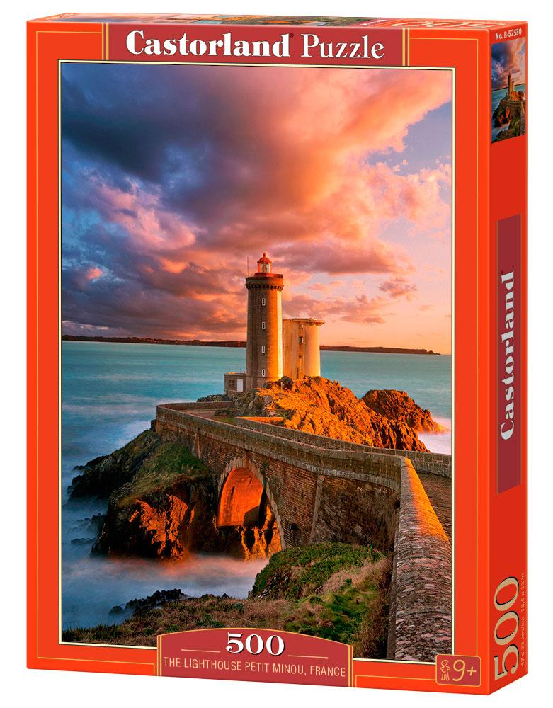 Puzzle Castorland Pequeño Faro Minou, Francia  de 500 Piezas