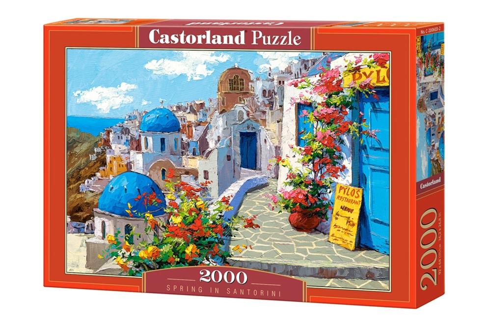 Puzzle Castorland Primavera en Santorini de 2000 Piezas