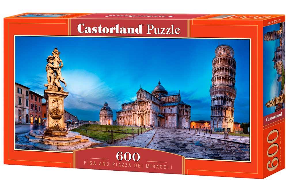 Puzzle Castorland Pisa y Plaza de los Milagros de 600 Piezas
