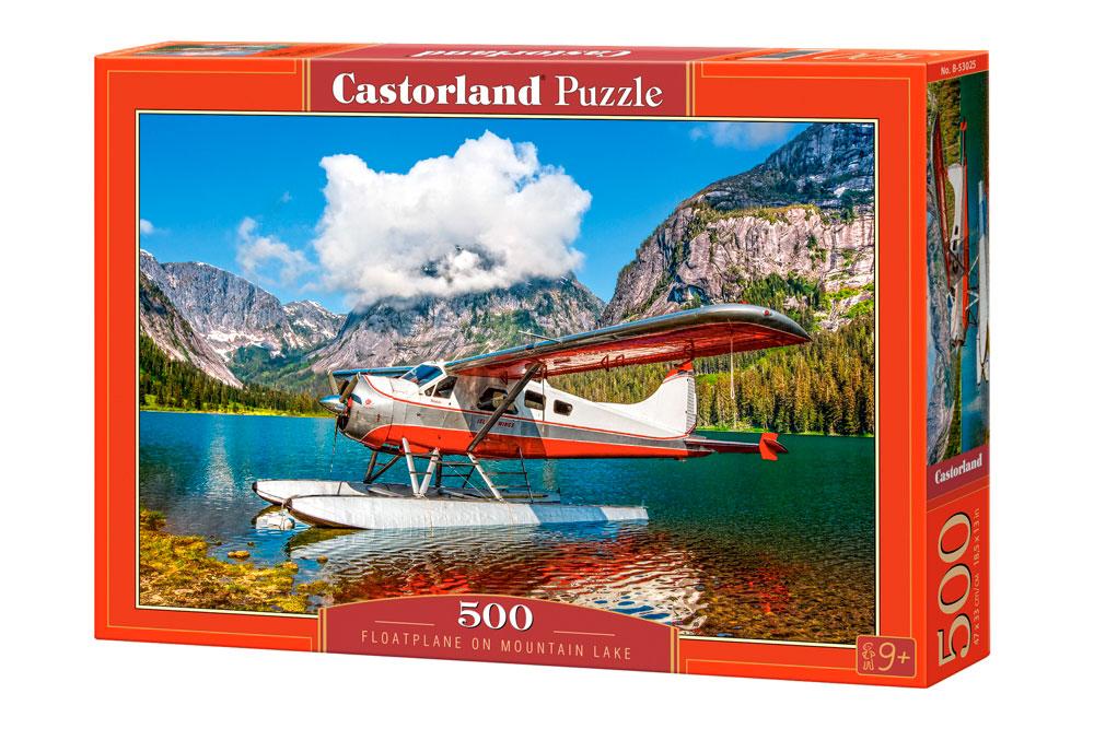 Puzzle Castorland Planeador en Lago de Montaña de 500 Piezas
