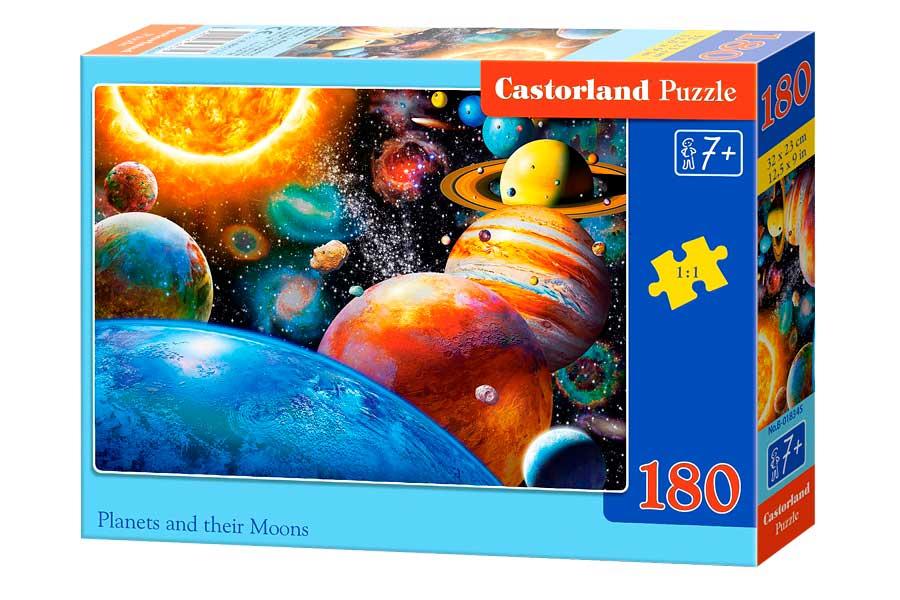 Puzzle Castorland Planetas y sus Lunas de 180 Piezas