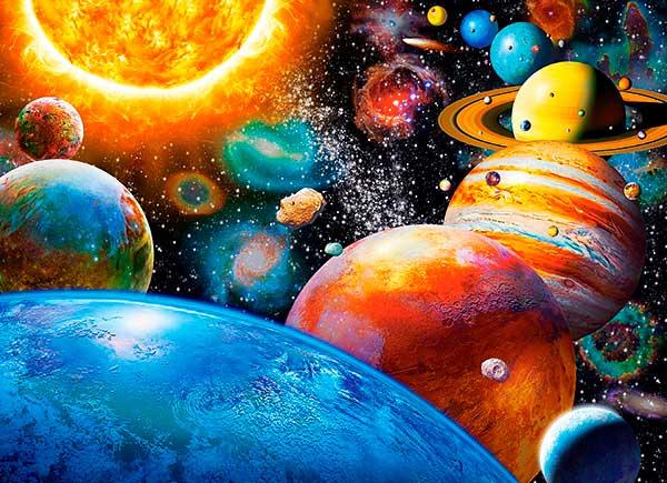 Puzzle Castorland Planetas y sus Lunas de 300 Piezas