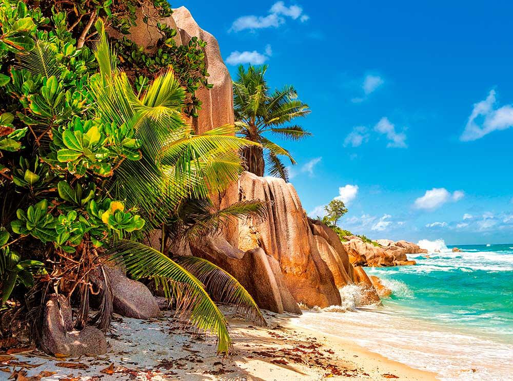 Puzzle Castorland Playa Paraíso de Seychelles de 2000 Piezas