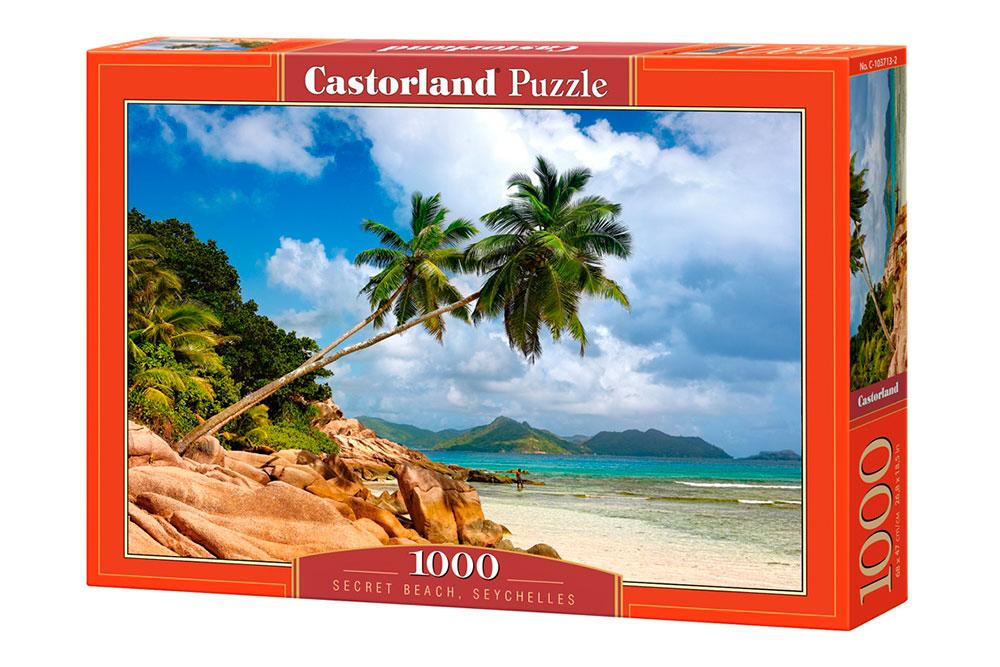 Puzzle Castorland Playa Secreta, Seychelles de 1000 Piezas