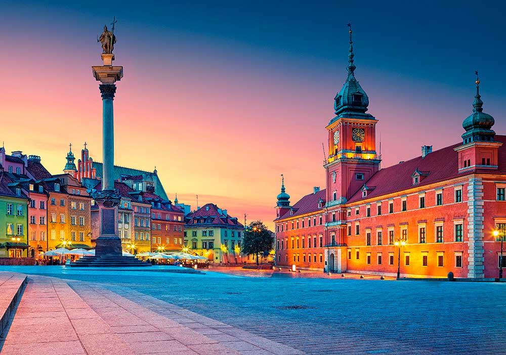Puzzle Castorland Plaza del Castillo, Varsovia de 500 Piezas