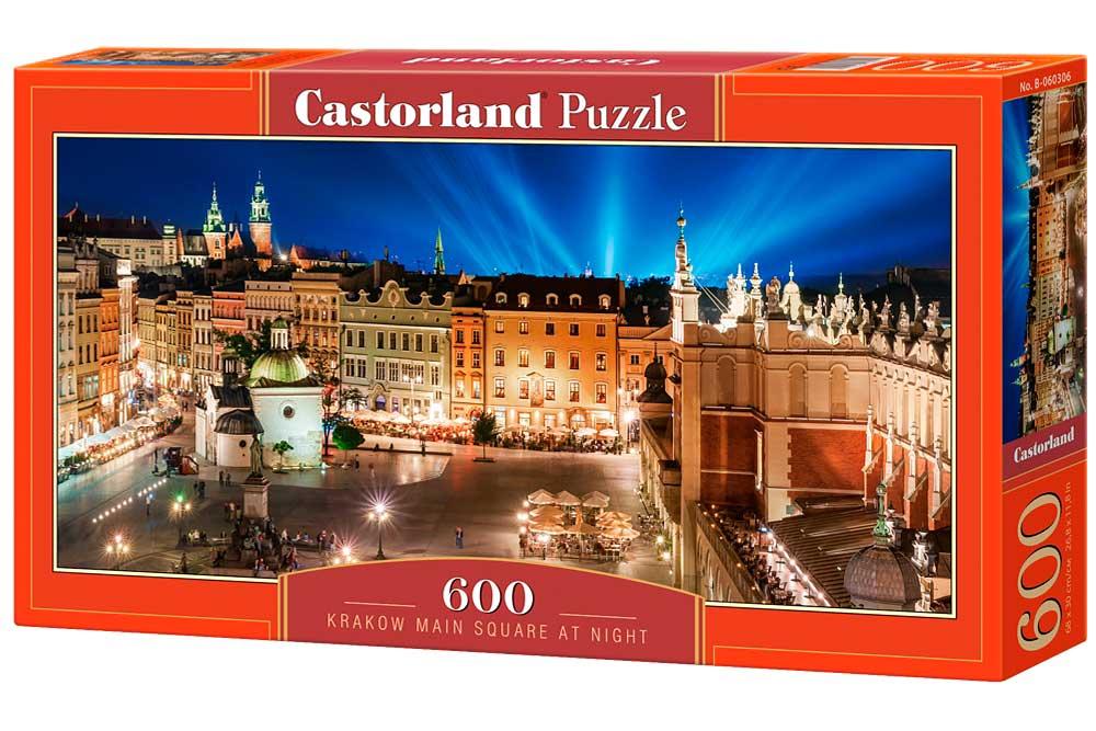Puzzle Castorland Plaza Mayor de Noche de 600 Piezas