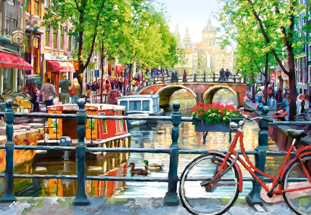 Puzzle Castorland Postal de Amsterdam de 1000 Piezas
