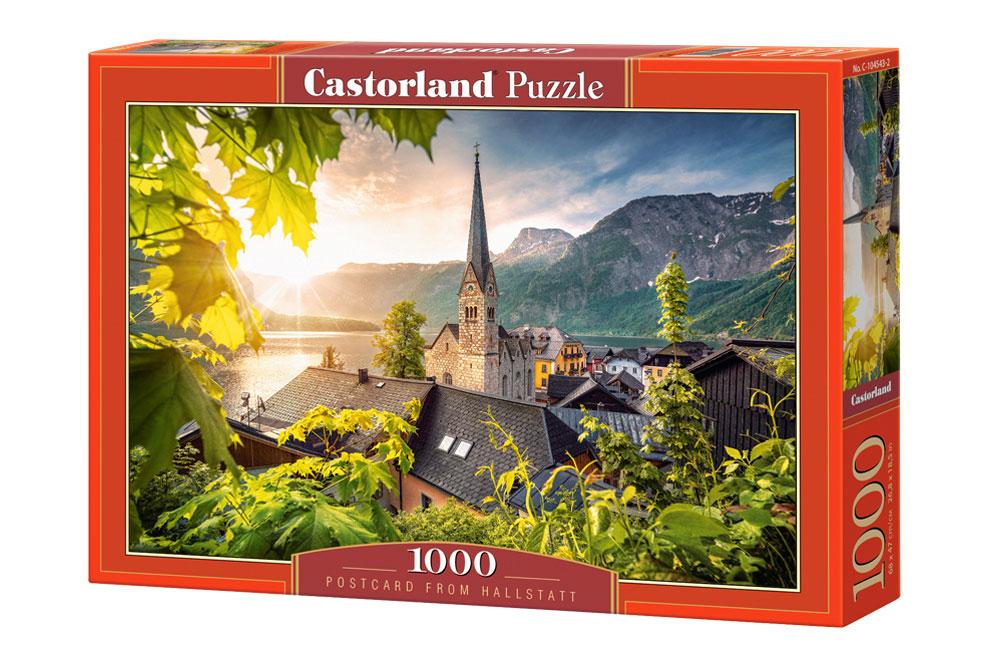 Puzzle Castorland Postal desde Hallstatt de 1000 Piezas