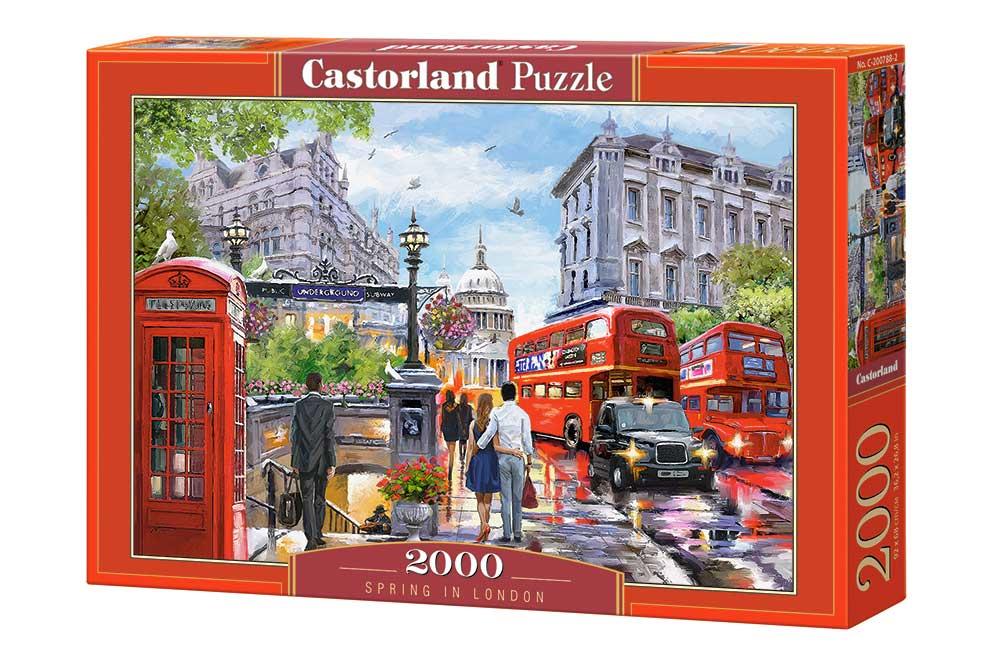 Puzzle Castorland Primavera en Londres de 2000 Piezas