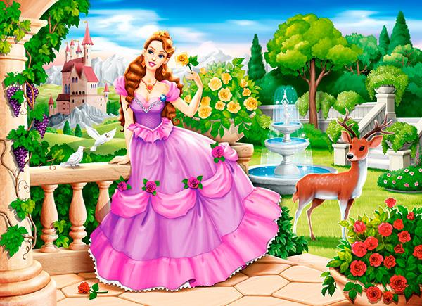 Puzzle Castorland Princesa en el Jardín Real de 100 Piezas