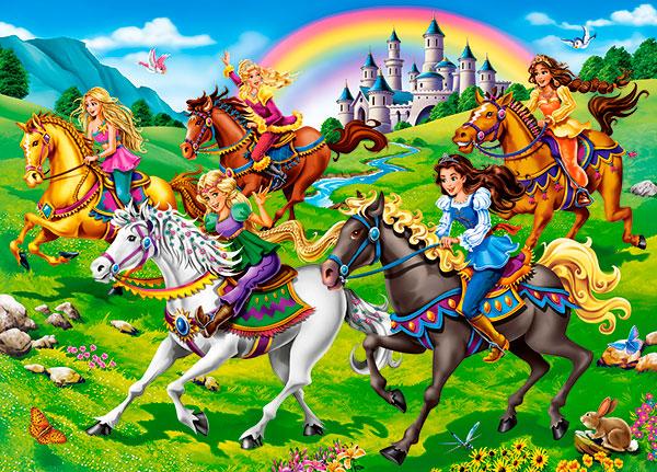 Puzzle Castorland Princesa Paseando a Caballo de 260 Piezas