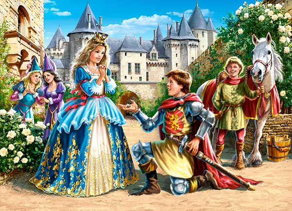 Puzzle Castorland Princesa y Caballero de 300 Piezas