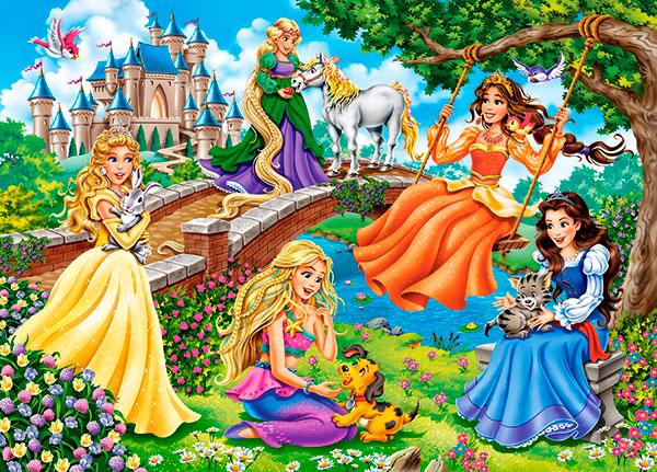 Puzzle Castorland Princesas en el Jardín de 180 Piezas