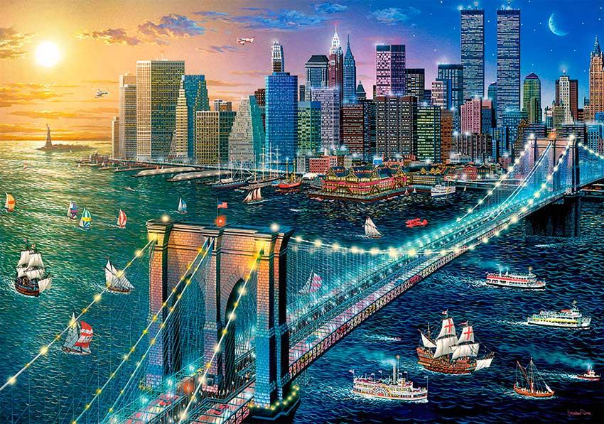 Puzzle Castorland New York, Puente de Brooklyn de 500 Piezas