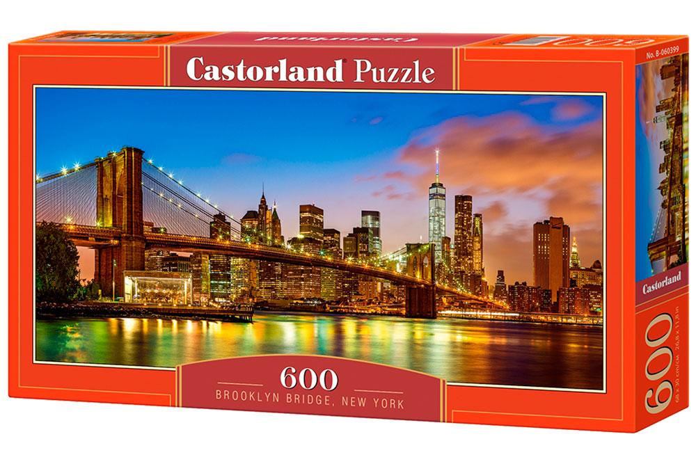 Puzzle Castorland Puente de Brooklyn, Nueva York de 600 Piezas
