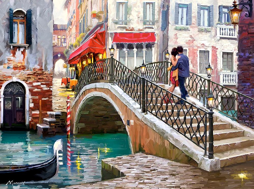 Puzzle Castorland Puente en Venecia, Italia de 2000 Piezas