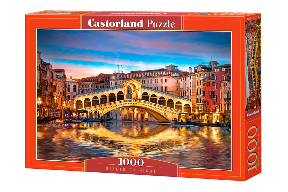 Puzzle Castorland Puente Rialto de Noche de 1000 Piezas