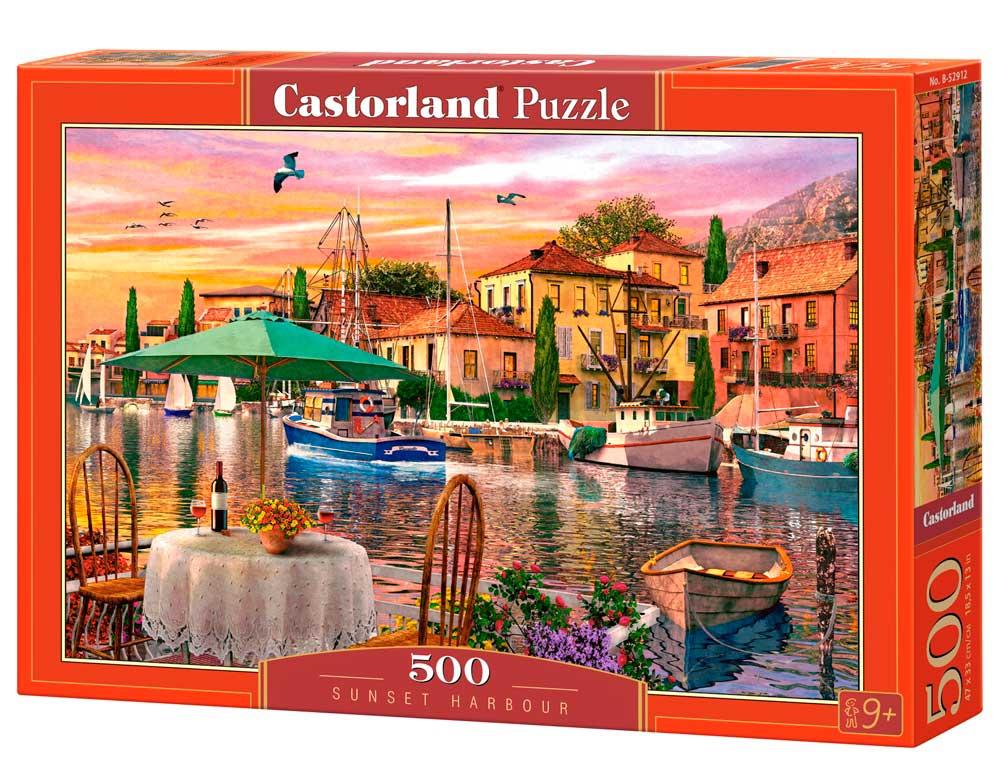 Puzzle Castorland Puerto al Atardecer de 500 Piezas