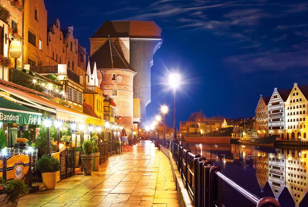 Puzzle Castorland Puerto de Gdansk por la Noche de 1000 Piezas