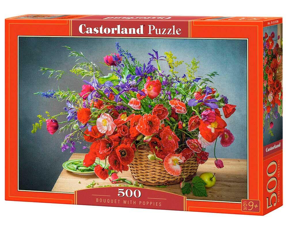 Puzzle Castorland Ramo con Amapolas de 500 Piezas