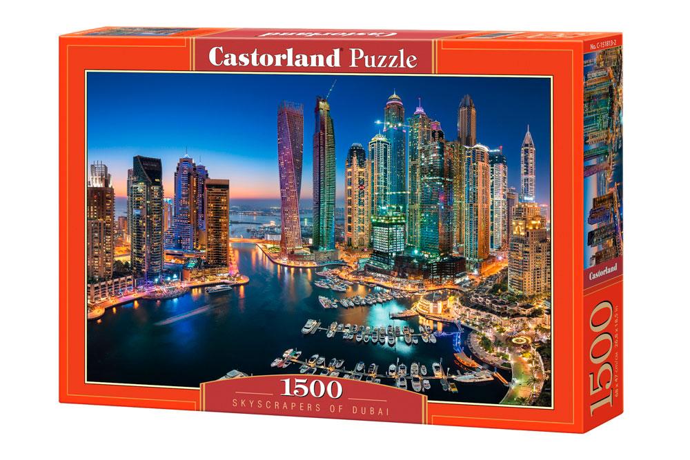Puzzle Castorland Rascacielos de Dubai de 1500 Piezas