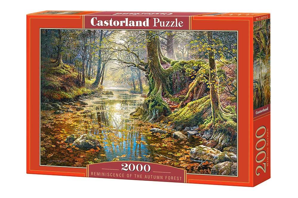 Puzzle Castorland Recuerdo de Bosque Otoñal de 2000 Piezas