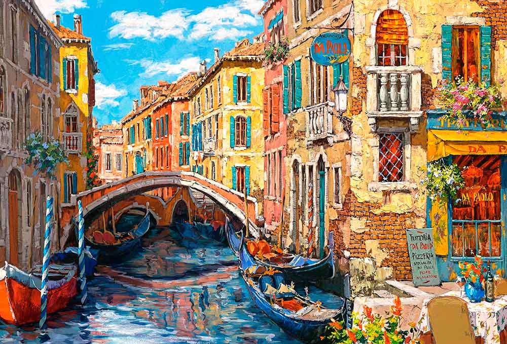 Puzzle Castorland Reflejos de Venecia de 1000 Piezas