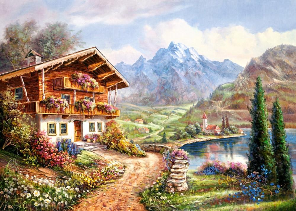 Puzzle Castorland Refugio de Alta Montaña de 2000 Piezas