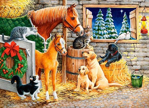Puzzle Castorland Reunión de Amigos Animales de 300 Piezas