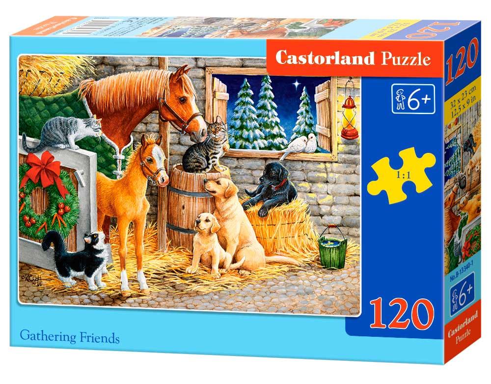 Puzzle Castorland Reunión de Amigos de Corral de 120 Piezas