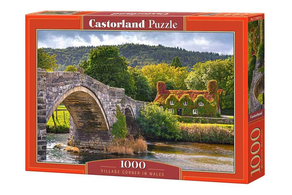 Puzzle Castorland Rincón de Pueblo en Gales de 1000 Piezas