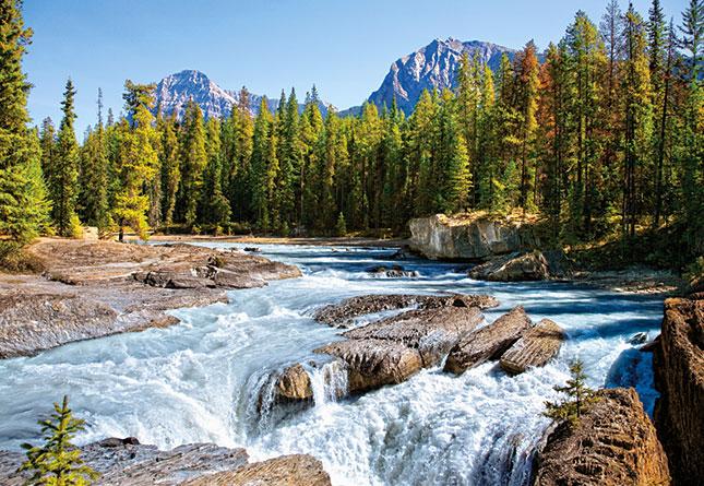 Puzzle Castorland Rio Athabasca, Parque Nacional Jasper, Canadá