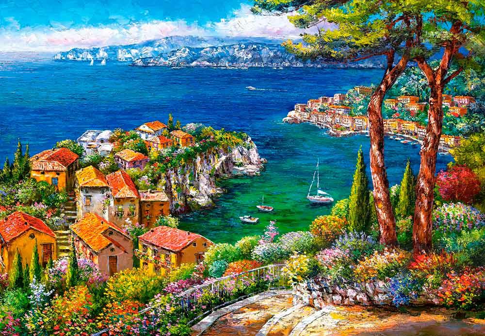 Puzzle Castorland Costa Azul de 1500 Piezas