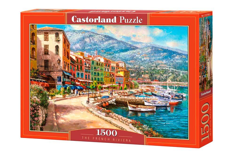 Puzzle Castorland Riviera Francesa de 1500 Piezas