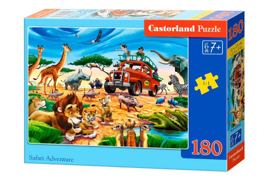 Puzzle Castorland Safari de Aventura de 180 Pzs.