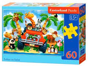 Puzzle Castorland Safari Loco de 60 Piezas