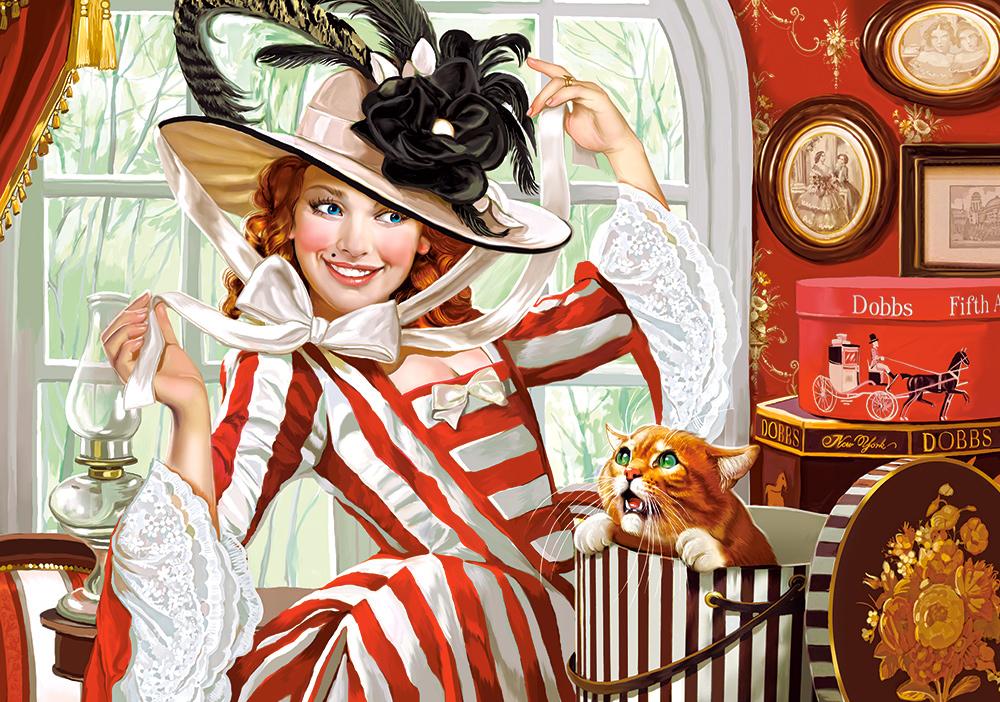 Puzzle Castorland Señorita del Sombrero de 500 Piezas