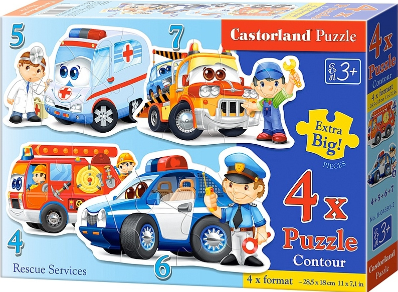Puzzle Castorland Servicios de RescateProgresivo 4+5+6+7