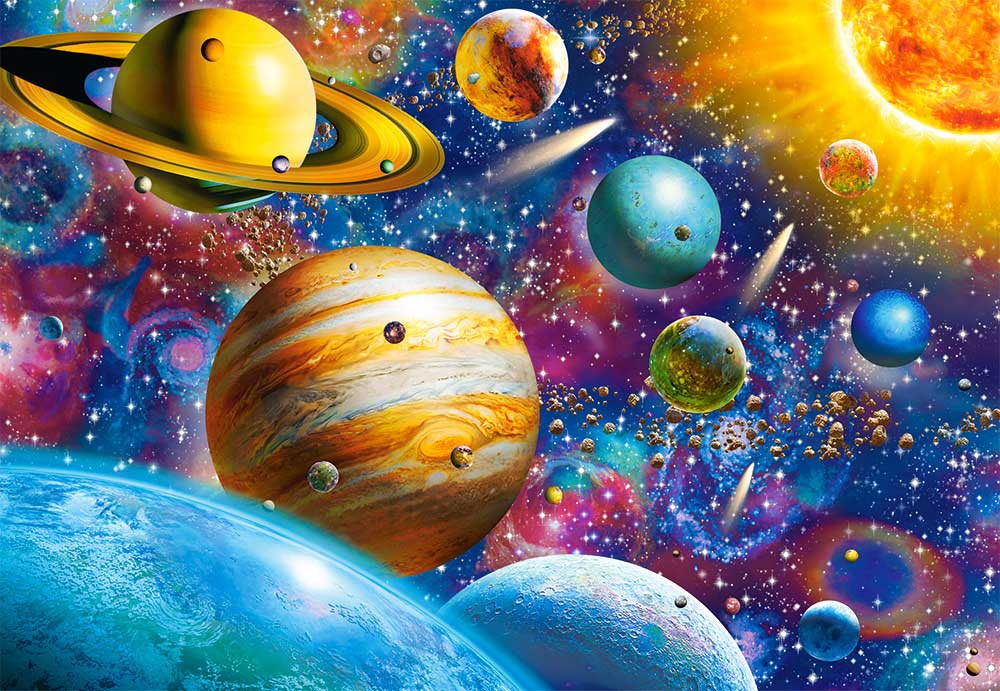 Puzzle Castorland Sistema Solar de 1000 Piezas