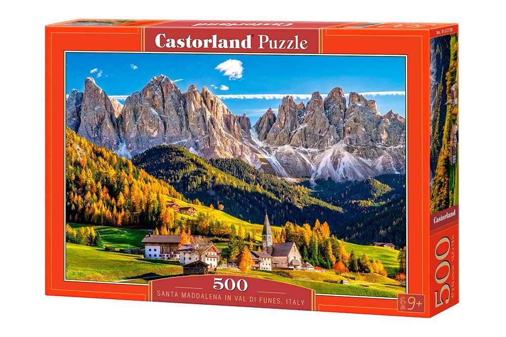 Puzzle Castorland Sta Magdalena Val di Funes, Italia 500 Piezas