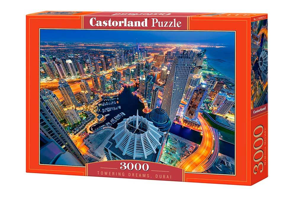 Puzzle Castorland Sueños desde las Torres Dubai de 3000 Piezas