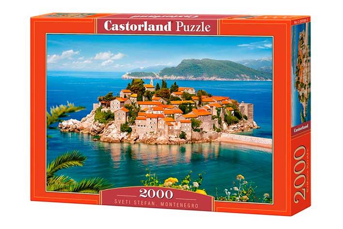 Puzzle Castorland Sveti Stefan, Montenegro de 2000 Piezas