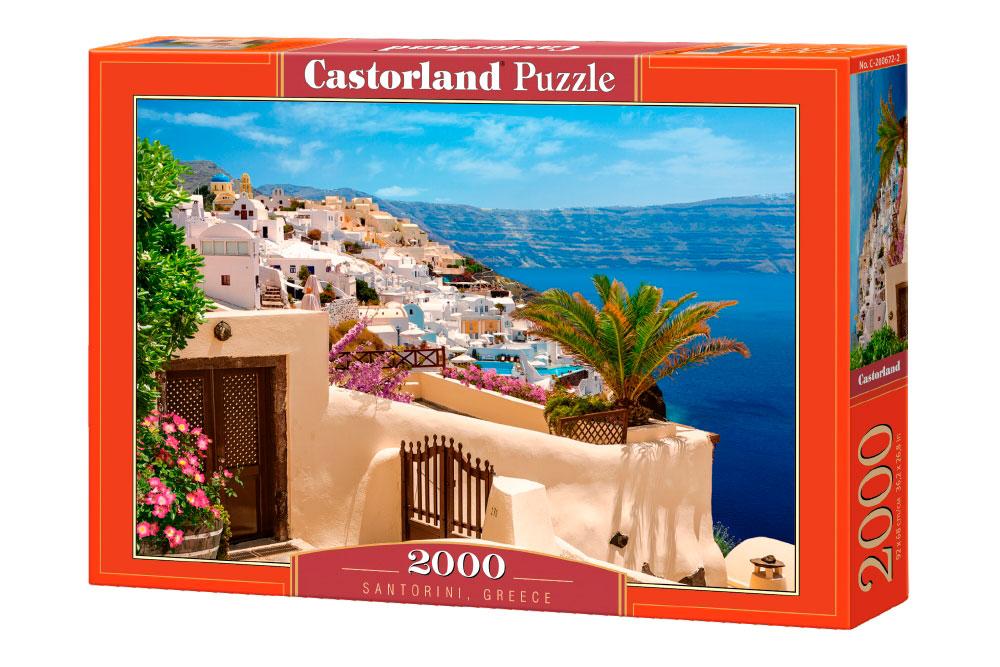 Puzzle Castorland Terraza en Santorini, Grecia de 2000 Piezas