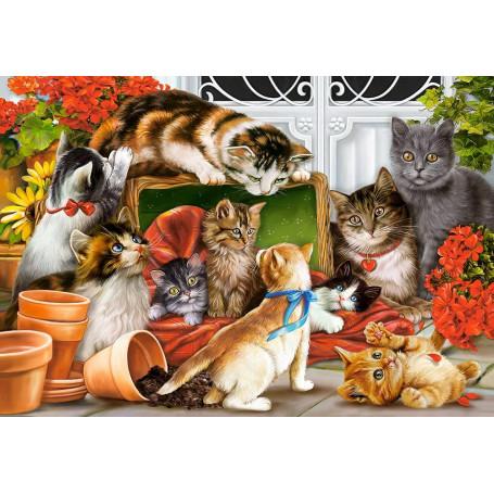 Puzzle Castorland  Tiempo de Juego de Gatitos  de 1500 Piezas
