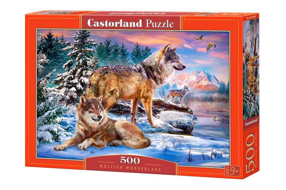 Puzzle Castorland Tierra de Lobos de 500 Piezas